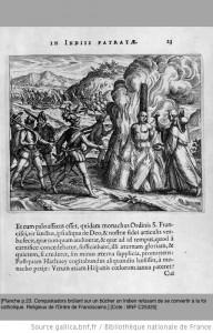 2gravures illustrant la  Narratio regionum Indicarum per Hispanos quosdam devastattarum