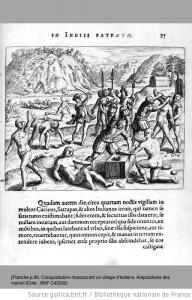 4gravures illustrant la  Narratio regionum Indicarum per Hispanos quosdam devastattarum