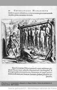 gravures illustrant la  Narratio regionum Indicarum per Hispanos quosdam devastattarum