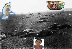 Montserrat est un soldat espagnol, qui pour sauver le peuple Vénézuélien a dû trahir son propre peuple. Mais dans l'ombre de cette trahison se cache un homme nommé Izquierdo, qui est prêt à tout pour pouvoir faire parler son nouvel ennemi: Montserrat.  Comment Montserrat parviendra t-il à rester muet et continuer sa « mission » jusqu'au bout, arrivera t-il à résister au terrible Izquierdo, ainsi qu'à sa torture psychologique ? Commentaire des choix: Pour nous la Colombe symbolise Montserrat car celle-ci représente la liberté, la paix, la force des sentiments et la pureté. Pour nous le Lion symbolise Izquierdo car celui-ci représente la méchanceté, la confiance en soi et la supériorité.  Pour nous l'image du fond représente la torture, le massacre des vénézuéliens par les Espagnols, ainsi que la mort. Lolita a choisi la Colombe (Montserrat) car elle se retrouve en Montserrat, elle est sentimentale, sensible, et aime se battre pour la liberté. (fusionnelle)  Camille a choisi le Lion (Izquierdo) car : Elle se retrouve en Izquierdo, elle aime avoir ce qu'elle veut à tout prix, impulsive, mêle-tout, et agressive. ( fusionnelle) Sofiane a choisi la neutralité car : Observateur